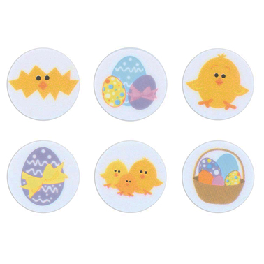 Easter Collection Printed Sugar Toppers